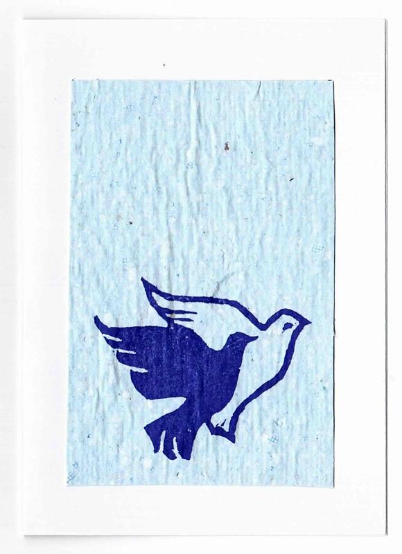 Carte de vœux en papier recyclé | Bleu