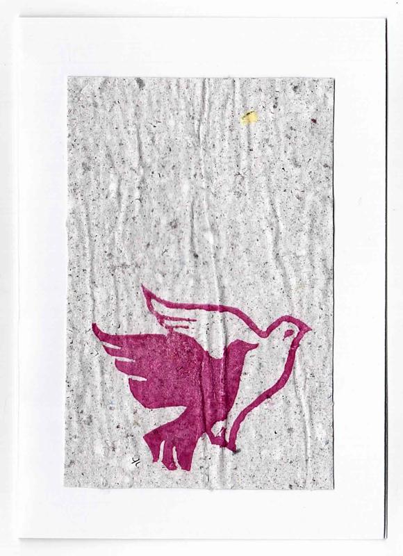 Carte de vœux en papier recyclé | Gris