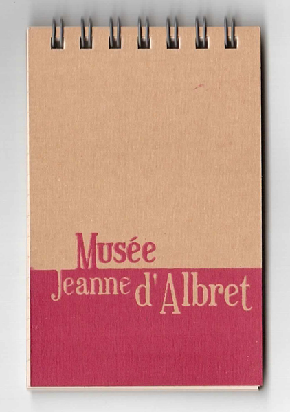 "Carnet spirale mini-bloc ""Musée Jeanne d'Albret"" - Chick Hibou"