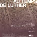 """Affiche de l'exposition temporaire """"Le Livre au temps de Luther"""""""