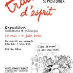 Affiche exposition temporaire caricatures