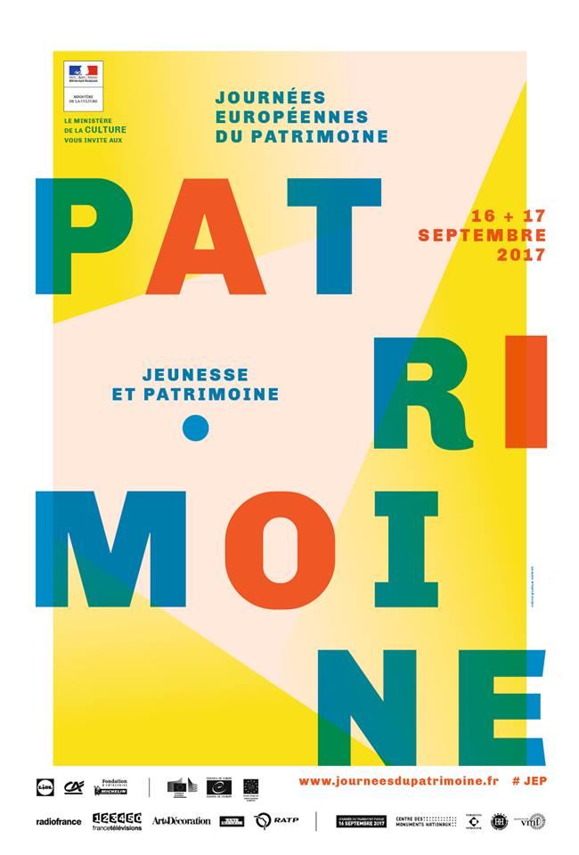 Affiche Journées européennes du Patrimoine 2017