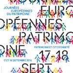 Affiche des Journées européennes du Patrimoine 2016